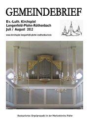 Gemeindebrief Juli / August 2012 - Kirchspiel Lengenfeld Plohn ...