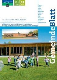 Eröffnung des neuen Kindergartens in Meiningen. Sonntag, 17 ...