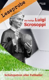 Leseprobe: Der heilige Luigi Scrosoppi - Schutzpatron aller Fußballer