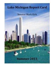 Lake Michigan Report Card Summer 20 - Mark Kirk
