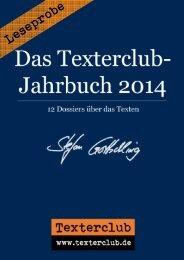 Leseprobe: Das Texterclub-Jahrbuch 2014 (Stefan Gottschling)