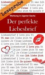 Leseprobe: Werbung in eigener Sache - Der perfekte Liebesbrief