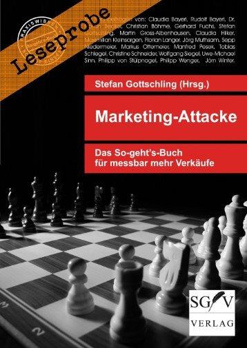 Leseprobe: Marketing-Attacke - Das So-geht's-Buch für messbar mehr Verkäufe