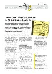 Kunden- und Service-Information: die CD-ROM setzt sich durch