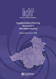 Affordable housing SPD2 - Kirklees Council
