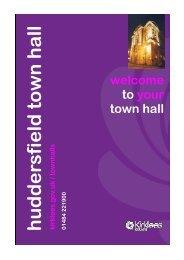 Huddersfield Town Hall Room Layouts