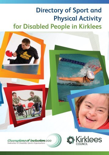 Directory of Sport and Physical Activity for Disabled People in Kirklees