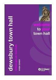 Dewsbury town hall room layouts - Kirklees Metropolitan Council