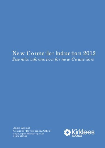 Essential information for new Councillors (PDF ... - Kirklees Council