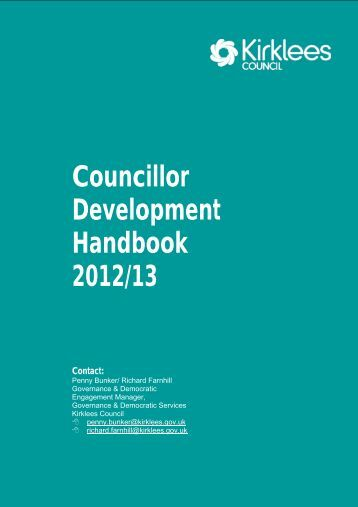 Councillor Development Handbook (PDF 331kb) - Kirklees Council