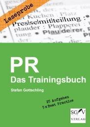 Leseprobe: PR - Das Trainingsbuch (Stefan Gottschling)