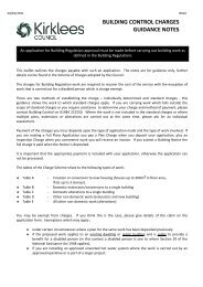 Building Control Charges - Kirklees Council
