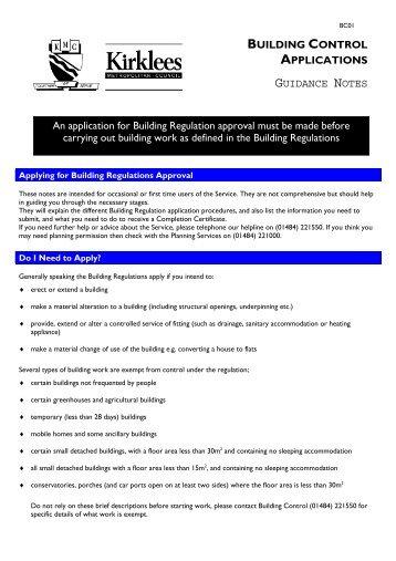 Kirklees Building Regulations