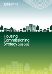 Housing Commissioning Strategy 2013-2016 - Kirklees Council
