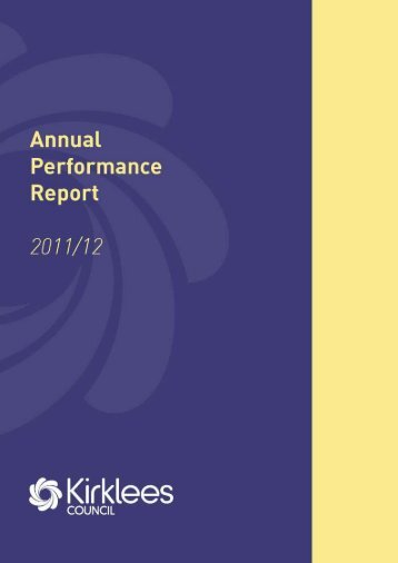 Annual Performance Report 2011/12 - Kirklees Council