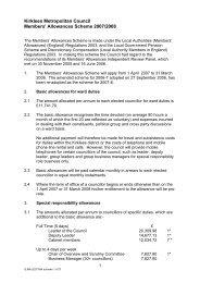 Councillor's allowances Scheme, April 2007 (PDF 43kb) - Kirklees ...