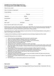 Holmfirth Farmers Market Application form 1st Sunday (PDF: 87Kb)