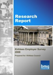 Kirklees Employer Survey 2008 - Kirklees Metropolitan Council