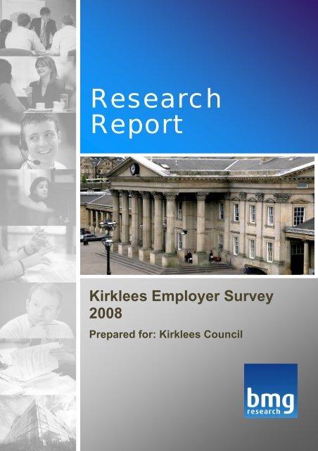 Kirklees Employer Survey 2008 - Kirklees Metropolitan Council