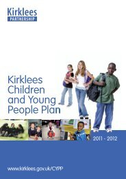 Children & Young People Plan - 2011/2012 (PDF ... - Kirklees Council
