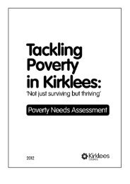 Tackling Poverty Needs Assessment (PDF 1.8Mb) - Kirklees Council
