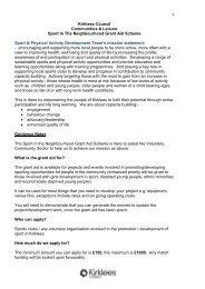 Sports in the Neighbourhood - Kirklees Council