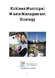 Kirklees Municipal Waste Management Strategy - Kirklees Council