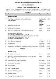 KNH Board Agenda 1 December 2009