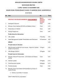 KNH Board Agenda 25 November 2008 - Kirklees Metropolitan ...