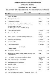 KNH Board Agenda 28 July 2009