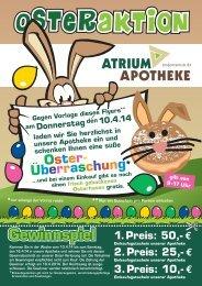 Osteraktion der Atrium Apotheke in Düsseldorf