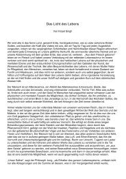 Das Licht des Lebens, SSe Juli 1970 - Die Mission der allmächtigen ...