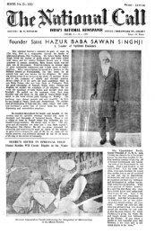 Foun.der Saint HAZUR BABA SAWAN SINGHJI - Die Mission der ...
