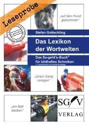 Leseprobe: Lexikon der Wortwelten - Das So-geht's-Buch für bildhaftes Schreiben (Stefan Gottschling)