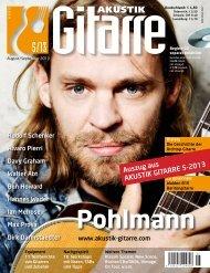 Auszug aus AKUSTIK GITARRE 5-2013 - Musikhaus Kirstein