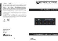 LF-5 DMX Foot Controller Bedienungsanleitung / Users manual