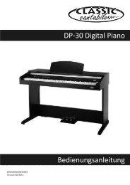 DP-30 Digital Piano Bedienungsanleitung - Musikhaus Kirstein