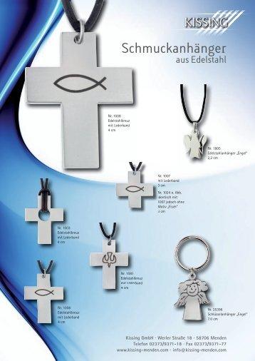 Schmuckanhänger aus Edelstahl - Kissing GmbH