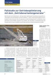 Fallstudie zur Getriebeoptimierung mit dem ... - KISSsoft AG