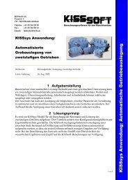KISSsys Anwendung: Automatische Getriebeauslegung - KISSsoft AG