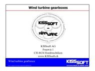 Wind turbine gearboxes - KISSsoft AG