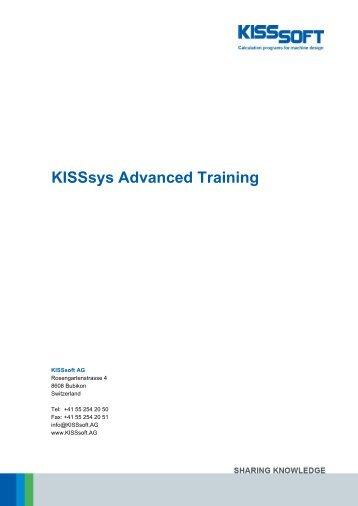 KISSsys Advanced Training - KISSsoft AG