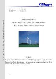 KISSsys application: Lifetime analysis of a 4MW wind turbine gearbox