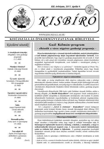 Kisbíró 2011/3. száma (április 9.) - Kisújszállás