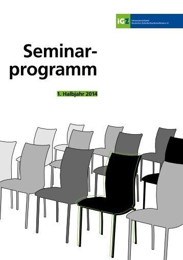 Seminarprogramm 01-2014