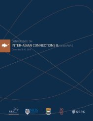INTER-ASIAN CONNECTIONS II - New Site - Social Science ...