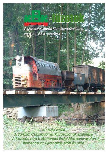 KBK füzetek 2004/3 - Kisvasut.hu