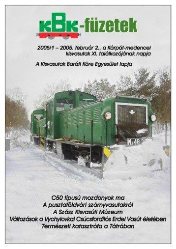 KBK füzetek 2005/1 - Kisvasut.hu