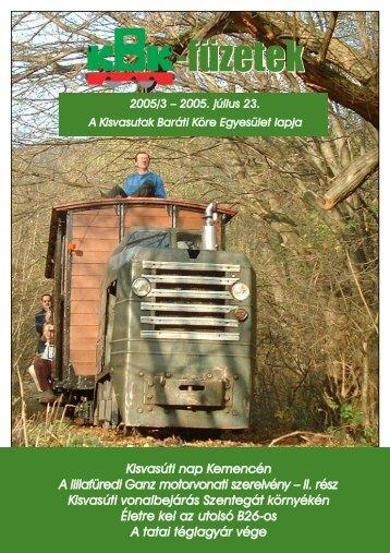 KBK füzetek 2005/3 - Kisvasut.hu