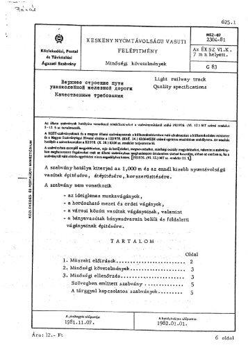 MSZ2304-81 - Kisvasut.hu